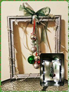 Not crazy about this, but I love that she switched shapes, what other household items or shapes could we use?  Christmas wreath diy