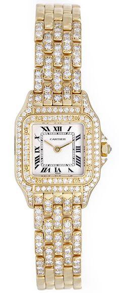 http://www.squidoo.com/best-cartier-watches-for-women#module164189972 Pre-owned Cartier watch with diamonds