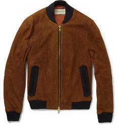 Oliver SpencerSuede Bomber Jacket