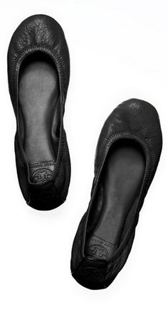 Classic black cozy flats #toryburch If these are half as comfy as they look, I need them in at least 3 colors