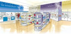 In 1998 we created a pioneering concept– a unique Russian retail brand for health, beauty and pharmacy products, with an open plan store format creating an i Retail Sector, Retail Design, Open Plan, Concept, London, How To Plan, Projects, Log Projects, Blue Prints