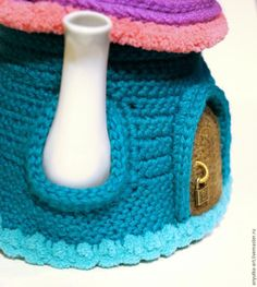 Вяжем грелку на чайник «Сказочный домик». Часть 1 - Ярмарка Мастеров - ручная работа, handmade