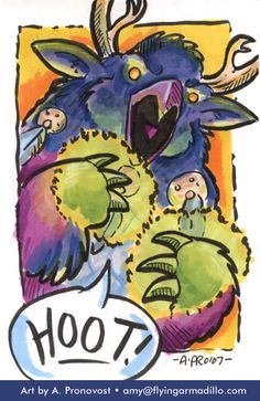 """""""Hoot! Boomkin!"""" by Amy Pronovost."""
