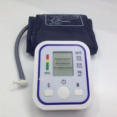 Bras Blood Pressure Pulse Moniteur Moniteurs de soins de Santé Numérique Supérieure Portable mètre tensiomètre pulsometro tonomètre
