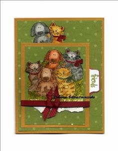 KC Bow Wow-Meow Meow Friends using Stampin Up Bow Wow