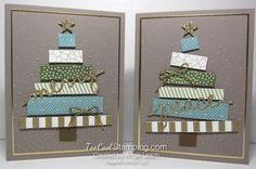 Build A Birthday Merry Christmas Tree Cards