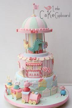 Now that's what we call a cake! Rachel made the Peppa Pig Fairground cake for Alba's second birthday