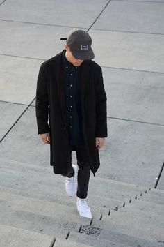 Get this look: http://lb.nu/look/7952870 More looks by Kevin Elezaj: http://lb.nu/kevinelezaj Items in this look: Reebok Sneakers, Nudie Jeans Jeans, Urban Outfitters Shirt, Urban Outfitters Coat, Urban Outfitters Cap #dapper #street #vintage