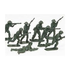 the green army men action figures 80's