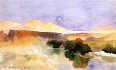 """Portneuf Canyon, Idaho"" (1879). Thomas Moran (1837-1926)."