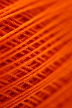 orange wool threads - they look so soft