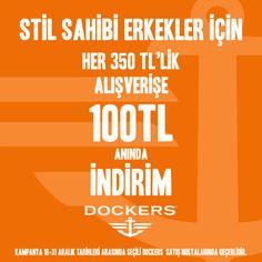 #Cepa Dockers'ta stil sahibi erkekler için yeni yıl fırsatı!  350 TL'lik alışverişlerinizde 100 TL anında indirim!  #cepaavm #cepa #avm #mall #shopping #ankara #turkey #turkiye #yeniyil #christmas #christmaseve #alisveris #indirim #dockers