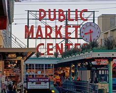 Seattle - Pike Place Market  I would love to have regular access to the flowers, seafood and fruit!