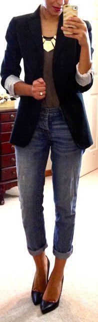 boyfriend blazer + boyfriend jeans