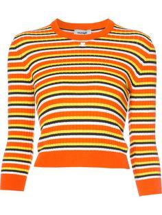 COURRÈGES Striped Hem Longsleeve Sweater. #courrèges #cloth #sweater