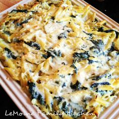 Baked Spinach and Artichoke Pasta