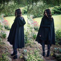 Necessary Evil Gothic Morrigan Wool Cape