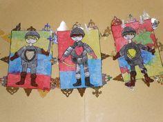 Leuk schild voor de ridders