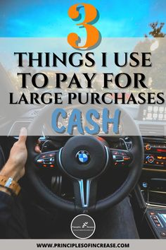 How I Pay Cash for Large Purchases and live without debt. If you are looking to save for a house, car, college education, or any other big-ticket items these are some must-haves in your savings toolkit.#MoneyHacks #DebtFree #SaveMoney #NewCar via: @increaselaws Cash Money, Earn More Money, Money Tips, Money Saving Tips, Finance Blog, Finance Tips, Personal Finance Articles, Managing Your Money, Education College