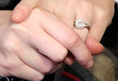 Leighton Meester engagement ring. Bezel setting. Pretty and unique
