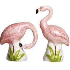 Tropical Salt & Pepper Shakers, Flamingo Salt and Pepper Salt And Pepper Grinders, Salt Pepper Shakers, Serveware, Tableware, Fish Plate, Ceramic Fish, Lovely Creatures, Gadget Gifts, Tea Pots