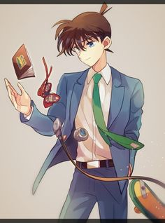 Shinichi by Akiyoshi (519×700)  This makes me so sad. I've always wanted him to return to himself but also for him to not. When he does, he'll have to abandon all the gadgets and Ayumi and the others. That makes me sad ok