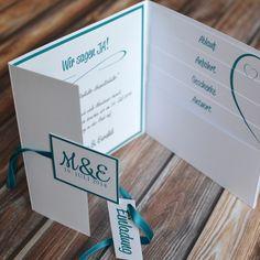 #Hochzeitskarte Mit #Einlegekarten Für #Standesamt, #Wegbeschreibung,  #Antwortkarte Und Mehr #kreativehochzeitskarten #einladungskarten Emma  M40 001 ...