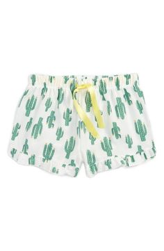 Cacti pajamas are the best kind of pajamas. These flannel shorts with ruffles are sure to be an instant bedtime favorite
