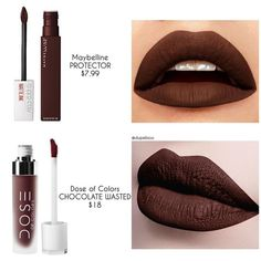 ❗️D U P E P R O O F❗️ This is a gorgeous dark brown shade and for all of. - ❗️D U P E P R O O F❗️ This is a gorgeous dark brown shade and for all of you looking for an - Brown Liquid Lipstick, Red Lipstick Makeup, Lipstick Art, Lipstick Dupes, Best Lipsticks, Drugstore Makeup, Lipstick Colors, Skin Makeup, Lip Colors