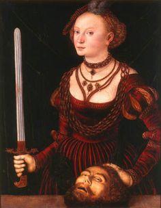 Lucas Cranach the Elder - Judith with de Head of Holofernes, 1472 - 1553.