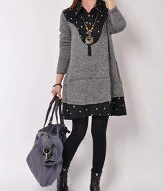 Black 2014 Spring clothes Cotton dress cotton by originalstyleshop, $58.90