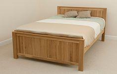 Oakdale Natural Solid Oak 5ft King-Size Bed Home Shopping
