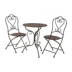 IN STOCK: best prices on Finchwood jardin antique brown table set - choose between 172 Garden dining set Garden Dining Set, Patio Dining, Dining Chairs, Dining Room, Metal Table Frame, Table And Chair Sets, Table Legs, Solid Wood Table Tops, Decorative Borders