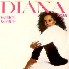 "Diana Ross 45"" single artwork for ""Mirror, Mirror""."