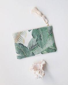 Palma cremallera impresión bolsa Monograma por theAtlanticOcean