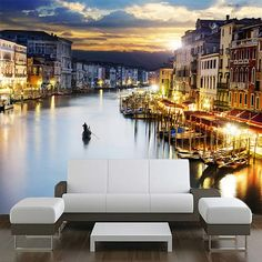 famous grand canale from Rialto Bridge at blue hour, Venice, Italy Accordion Music, Rialto Bridge, Venice Italy, Italy Italy, City Wallpaper, Grand Canal, Blue Hour, Canvas Pictures, Photo Canvas