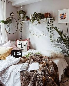 The Bohemian Home Decor Trap is part of Bohemian bedroom decor But What About Bohemian Home Decor Bohemian decor is a blend of textures, colours, and patterns It is all about the colors of the wor - Urban Outfitters Home, Bohemian Bedroom Decor, Bohemian Living, Hippie Bohemian, Bohemian Homes, Bohemian Apartment Decor, Hippie Living Room, Hippie Dorm, Bedroom Plants Decor