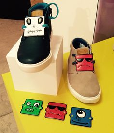 Boys have a cheeky cartoon face detachable tab set at Clarks footwear for kids spring 2016