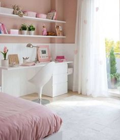 Girls Pink Bedroom #decoracioncuartodeniñas