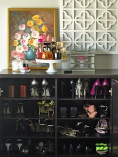 Like the idea of turning a dresser into a shoe rack. So many ideas for old dressers now!