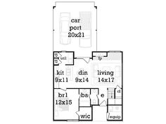 1st Floor Plan Unit B