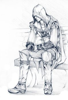 Ezio Auditore da Firenze, you're not Altaïr but I still like you. Yes, I admitt, I've a weakness for young Assassins. Tatouage Assassins Creed, Arte Assassins Creed, Asesins Creed, All Assassin's Creed, Overwatch, Character Drawing, Character Design, Graphic Novel, Video Game Art