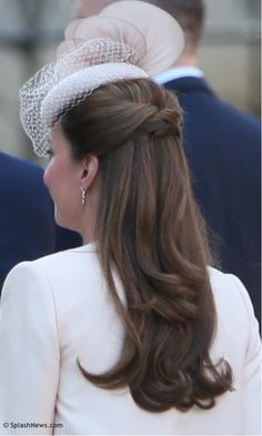 June 4, 2013 - Prince Harry of Wales and Duke & Duchess of Cambridge attend the 60th Anniversary of the Coronation Service at Westminster Abbey in London. Matt Keeble/Splash News (I would love for my hair to look this lovely!)