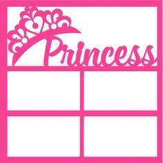 Princess - 12 x12 Scrapbook Overlay Laser Die Cut