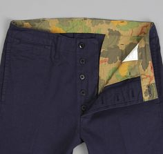J.S. HOMESTEAD x Hickoee's: The Hill-Side Chinos, Navy