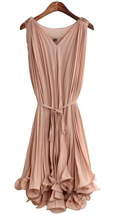Goddess pleated dress