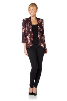 Floral Printed Peplum Jacket - http://www.romanoriginals.co.uk/invt/60821