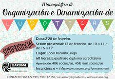 Únete á Organización e Dinamización de Ludotecas! http://www.xaruma.org/evento/227_eventosxaruma.html