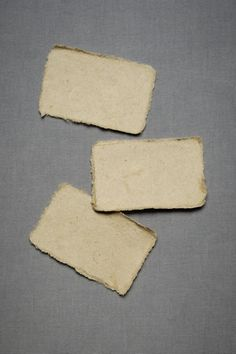 Albeit a bit rough around the edges, this pretty pack of Saa paper maintains its clean, elegant look. Set of 50. Mulberry bark. $12.00