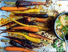 Zanahorias asadas con hinojo y miel, y puré de colinabo. #foodandtravelmx #recetas